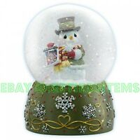Precious Moments Musical Snowman Water Globe 121105 Snowglobe Let It Snow Xmas