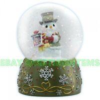 Precious Moments Musical Snowman Water Globe 121105 Snowglobe Let It Snow Xmas