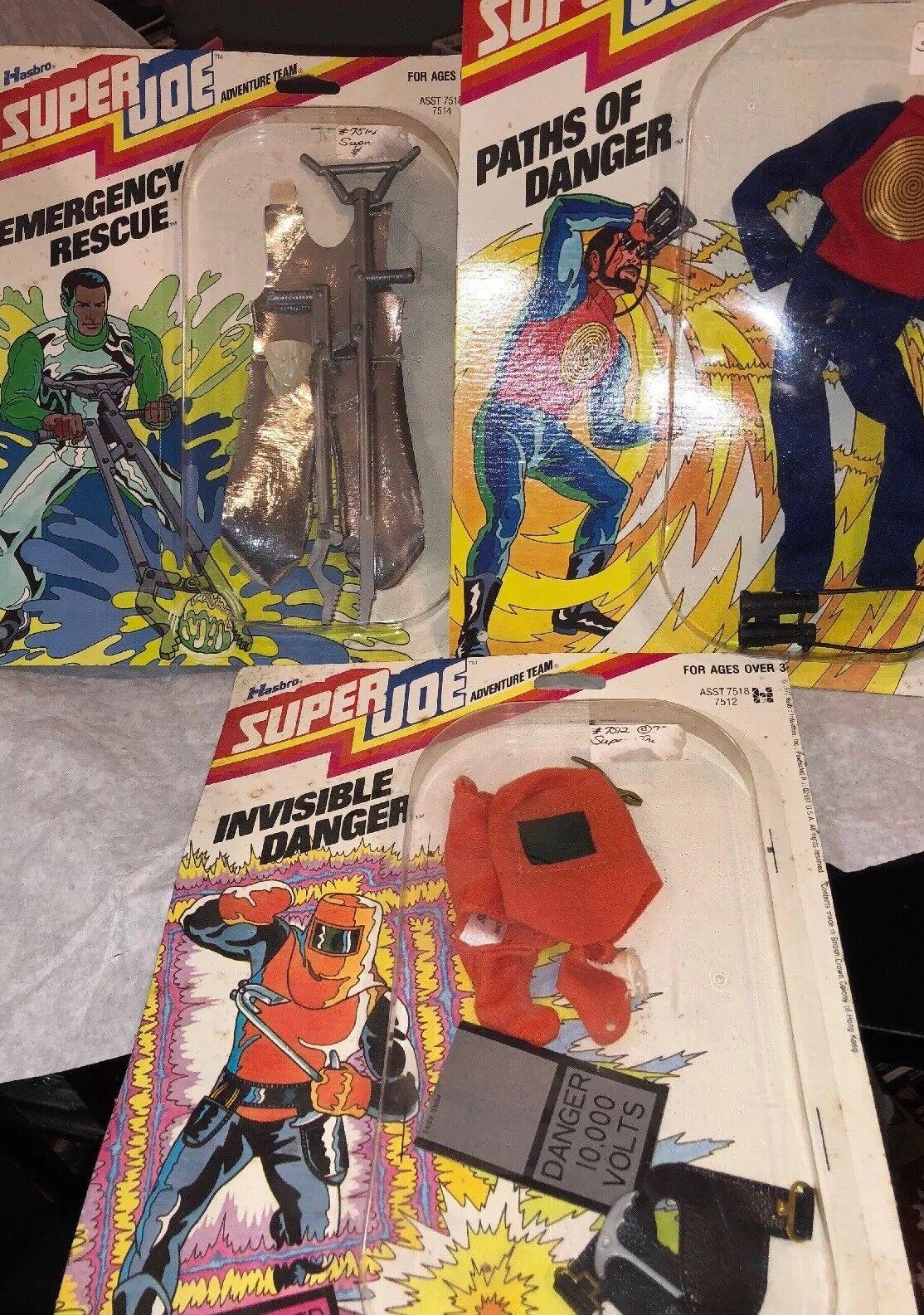 en stock súper Joe 1977 menta en tarjeta 3 Juego Juego Juego de Lote senderos de peligro invisible peligro de emergencia rescate   ventas de salida