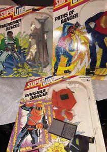 Super Joe 1977 Moc 3 Set Parcours du danger Secours invisible de secours!