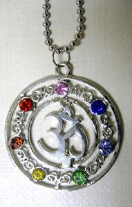 Halskette-OM-Chakra-Necklace-Amulett-Bija-Mantra-Hinduismus-Buddhismus-AUM