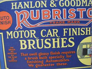 1920s-HANLON-amp-GOODMAN-AUTO-PAINT-BRUSH-Cardboard-Store-Display-Sign-CUT-OLD