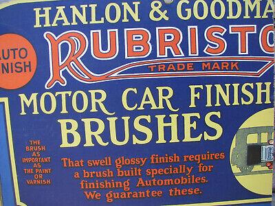 Auto Paint Store >> 1920s Hanlon Goodman Auto Paint Brush Cardboard Store Display Sign Cut Old Ebay