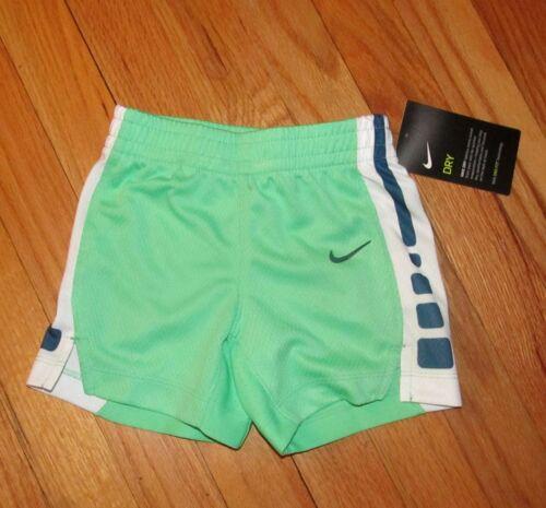Nike Baby Boy Green Navy White Dri Fit Shorts 18M 24M NWT