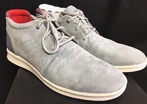 b322de3ecef Details about UGG Larken Stripe Perf 1014660 Pencil Lead Athletic Leather  Textile Dress Shoes