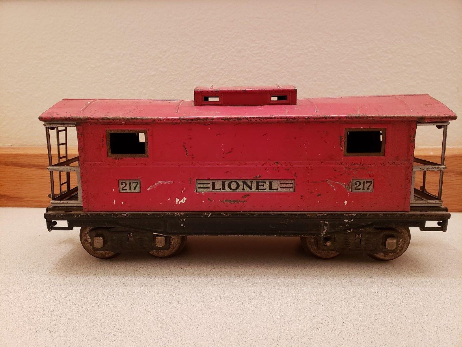 Lionel 217 Prewar Standard Gauge Tinplate Red Caboose