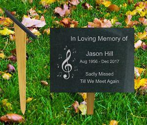 natural granite and oak memorial grave marker