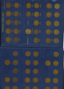 Canadian-Small-Cents-1920-1969-Collection-Complete-Whitman-Album-Scarce
