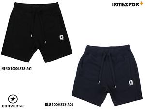 Shorts-bermuda-Converse-flece-slim-cotone-vita-bassa-regolabile-con-tasche