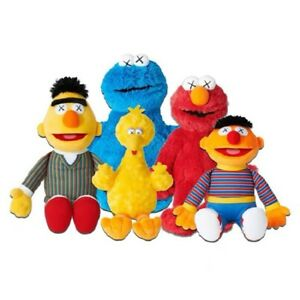 Kaws-x-Sesame-Street-Uniqlo-Limited-ELMO-BIG-BIRD-ERNIE-Bert-Plush-Doll-toy