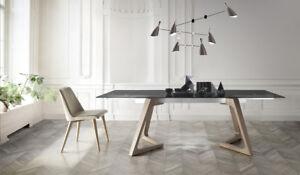 Exklusiver-Glastisch-Esstisch-in-2-Groessen-Echtholz-Furnier-Glas-oder-Keramik