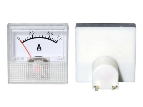 0-7,5a DC Recessed Measuring Instrument Analog Ammeter with Shunt-Mini 40x40x25mm