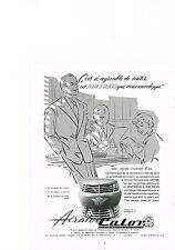 PUBLICITE ADVERTISING  1952   CALOR    ventilateur AERATOR