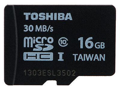 Toshiba 16GB MircoSDHC Class 10 UHS-I U1 Memory Card C10 16G 16 G GB Micro SD HC