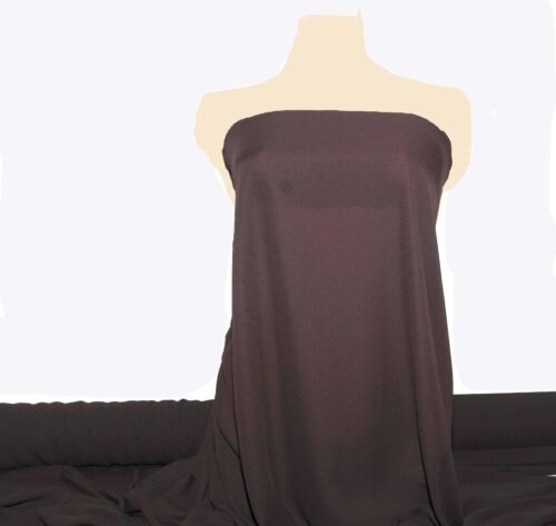 """DOUBLE GEORGETTE FABRIC BROWN 60/"""" SEMI-SHEER BTY FORMAL BRIDESMAID CURTAINS"""
