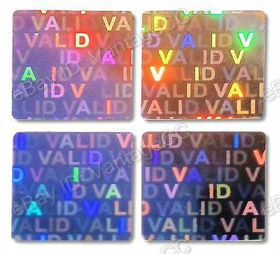 392x LARGE SECURE Hologram Stickers Labels UNNUMBERED 20mm Square Warranty VOID