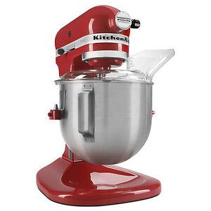 New-KitchenAid-Heavt-Duty-pro-500-Stand-Mixer-Lift-ksm500psqer-AllMetal-5-qt-Red