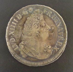 Louis-XIV-1643-1715-1-2-ecu-aux-palmes-1694-K-Bordeaux