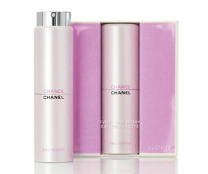 CHANEL-CHANCE-EAU-TENDRE-EDT-Twist-amp-Purse-Spray-Travel-Set-Refills-3-X-0-7OZ