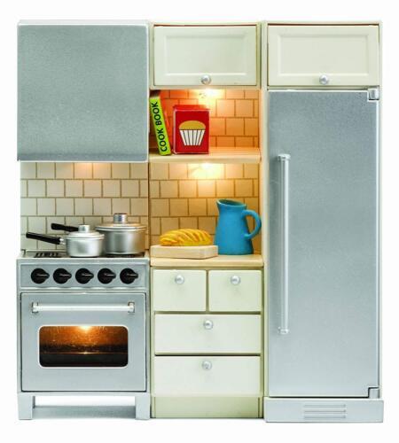 LUNDBY ™ 60.2064 SMALAND küchenset con illuminazione per casa delle bambole in 1:18