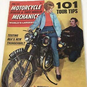 VINTAGE MAGAZINE MOTORCYCLE SCOOTER /& THREE WHEELER MECHANICS JUNE 1966