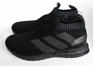 new arrival 975fb cc0f5 Details about Adidas Ace 16+ Purecontrol Ultra Boost Triple Black BY9088 UK  5 7 8 9 10 New