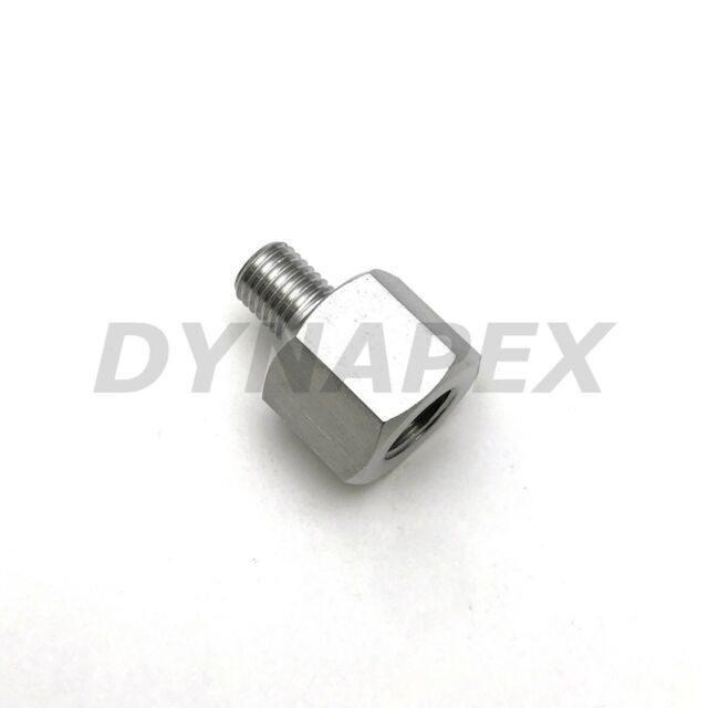 """Pipe Fitting 1/8"""" NPT Female to Metric M8 M8X1 Male Stainless Steel Adapter"""