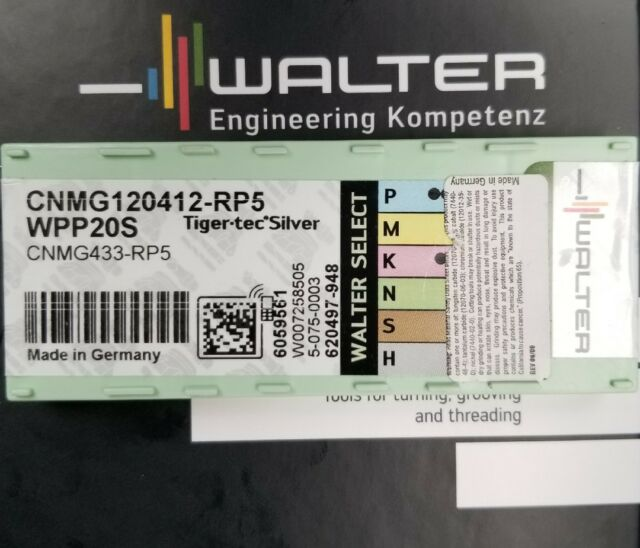 120408 RP5 WPP20S Carbide Turning Inserts BRAND NEW 10 PACK Walter CNMG 432