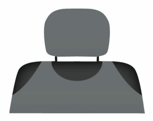 grey 2 x Car headrest protective covers for Vauxhall