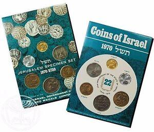 Israel-Official-Mint-Lira-Coins-Set-1970-Uncirculated