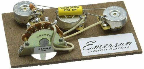 500k Töpfe Emerson Custom Strat 5-Way Vorverdrahtet Set