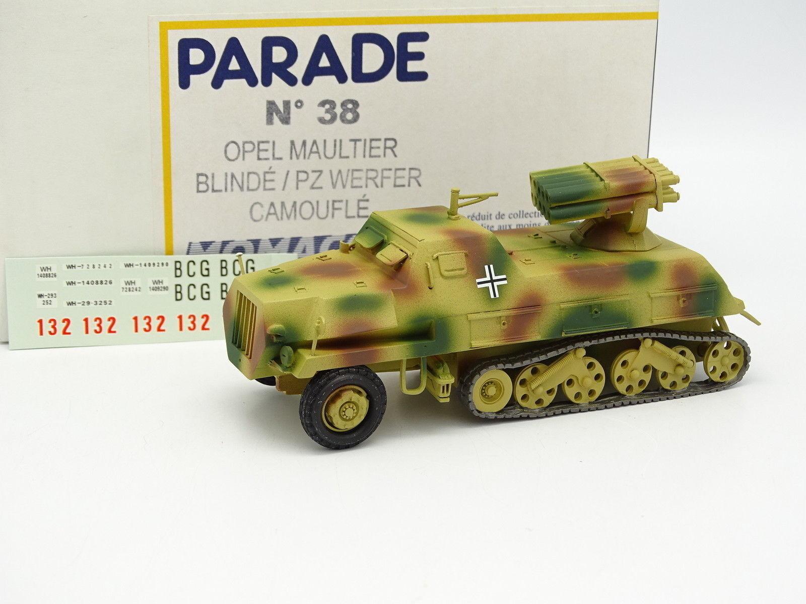 Parade militär- Army SB 1  50 –Opel Panzerwerfer Tank PZ Thrwer Camouflage