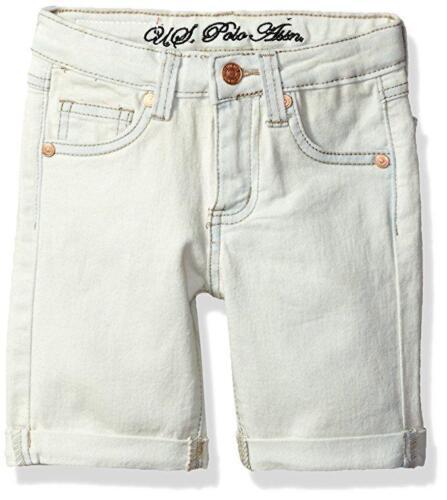US Polo Assn Toddler//Little Girls/' Sateen Denim Bermuda Shorts 2T 3T 4T 4 5 6 6X