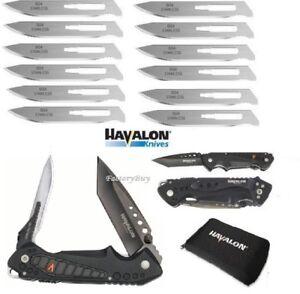 Havalon-Knives-EXP-Pocket-Folding-Knife-12-Piranta-60A-Extra-Blades-Holster