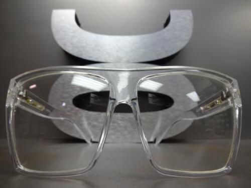 OVERSIZED VINTAGE RETRO Style Clear Lens EYE GLASSES Transparent Fashion Frame