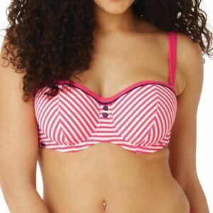 Panache-Cleo-Swimwear-Lucille-Bandeau-Bikini-Top-Coral-CW0193