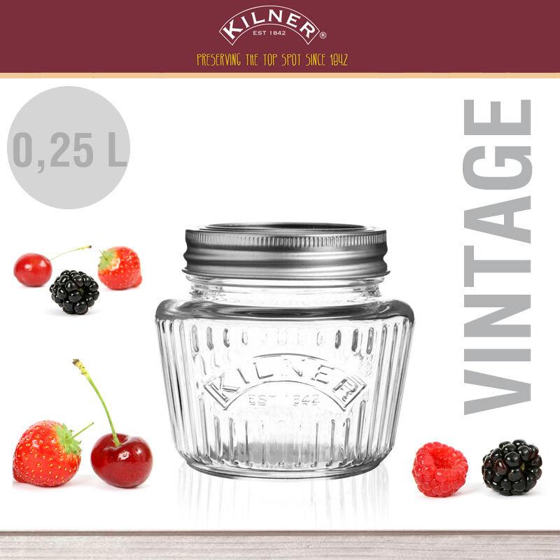 Kilner - - - Einmachglas Vintage 0,25 Liter Set c4dc2c
