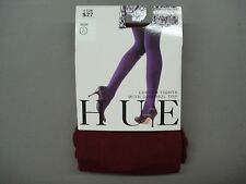 NWT Women's Hue Luster Tights w/ Control Top Size 3 Cabernet #636K