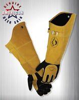 Caiman 1878-5 Glove welding 21 In L blk And Gold pr 23j996