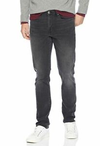 Nwt-Good-Threads-Homme-Coupe-Slim-Ponce-Noir-Slim-Jambe-Jean-Taille-38-X-30