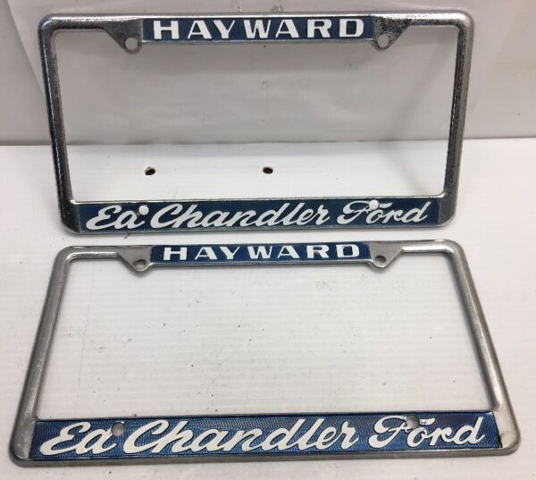 VINTAGE PAIR FORD HAYWARD ED CHANDLER CALIFORNIA CAR DEALER License ...