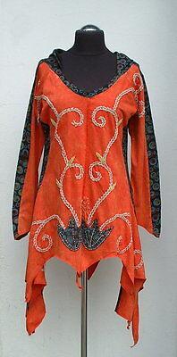 ♥ Zipfelshirt ♥ NEPAL Zipfelkleid große Zipfelkapuze Tunika Hippie Ethno Boho