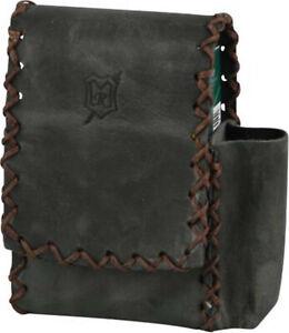MR Cigarette Case King Size 100er Pack - 2 Magnetknöpfe - Leather Grey Antique