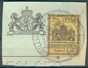 Niederlande-1-Briefstueck-mit-Fiskal-Steuermarke-Amsterdam-No-56