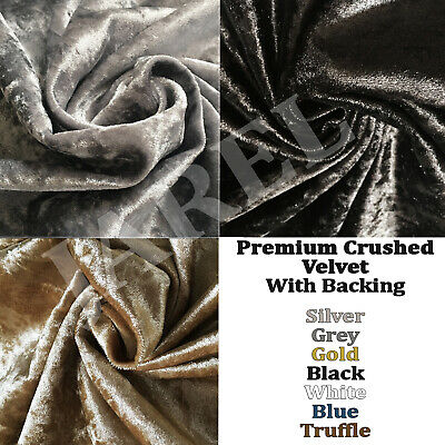 Quality Silver Crushed Velvet Fabric soft flexible craft upholstery cushions