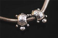 20pcs Silver Metal Big Hole Spacer Beads Fit European Bracelet Beads 10x14.5mm