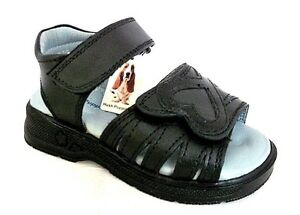 HUSH-PUPPIES-DOVE-2-BLACK-LEATHER-INFANT-GIRLS-CASUAL-SANDALS-UK-7-EU-24