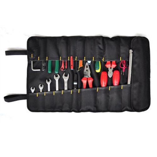 Car Suv Portable Reel Rolling Tool Bag Plier Screwdriver Spanner Storage Pocket