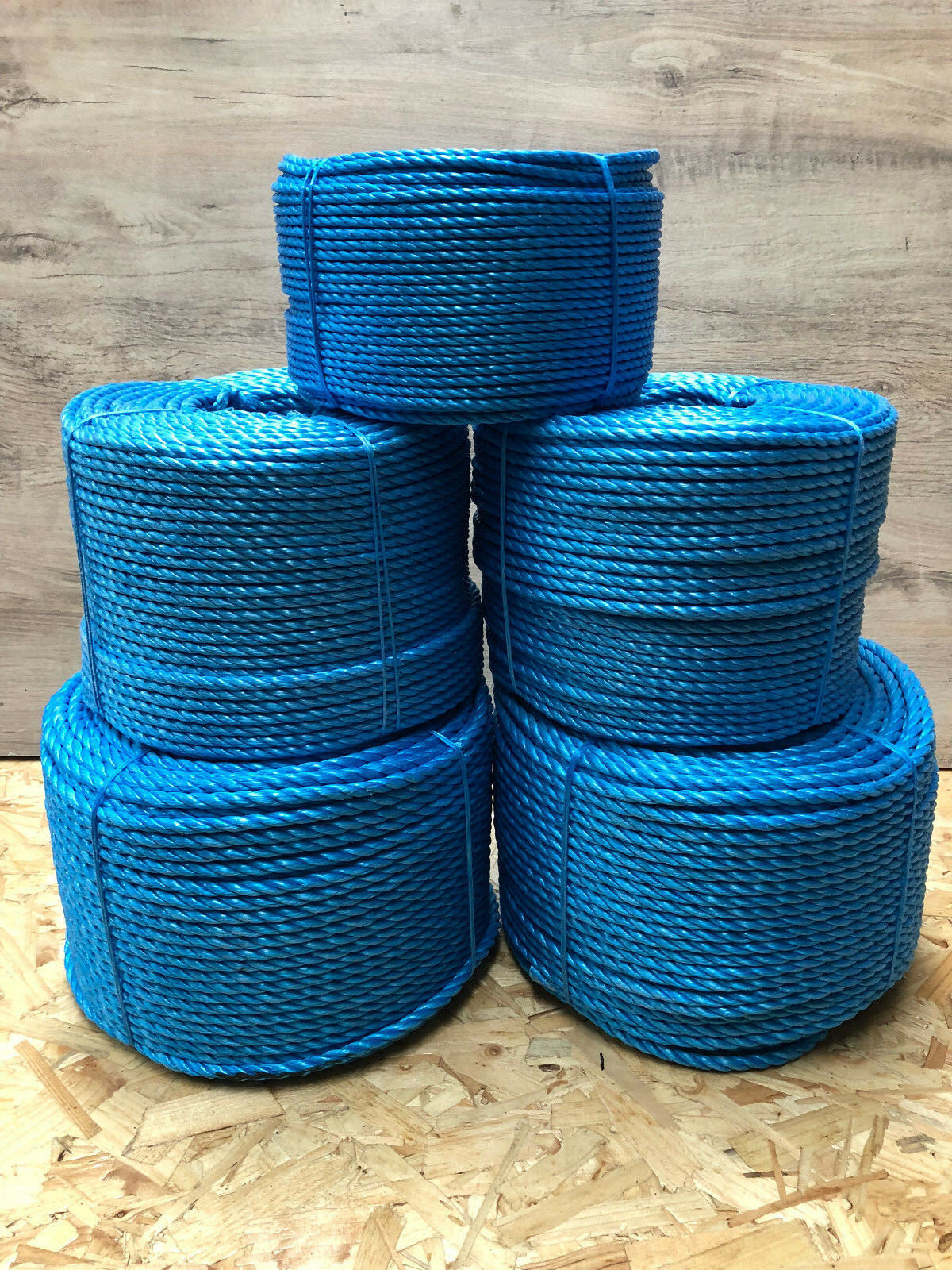 bluee Poly Rope Polypropylene Various Sizes Lengths 6mm-24mm tarpaulins use