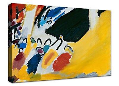 Quadri Moderni Kandinsky Astratto Quadro Stampa su Tela Canvas XXL Arte Casa